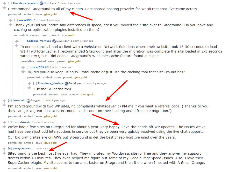 SiteGround reviews on reddit